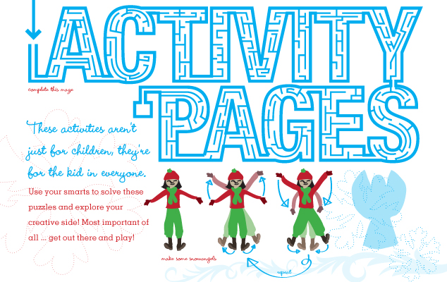 Activity Pages: Not just for children!
