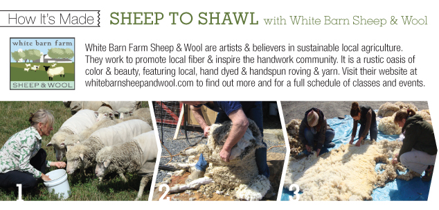 How It's Made: Sheep to Shawl with White Barn Sheep & Wool