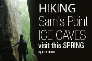 Hiking Sam's Point Ice Caves