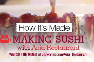 Making Sushi with Asia Restaurant