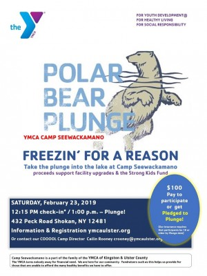 Freezin' for a Reason; Polar Plunge at YMCA Camp Seewac...