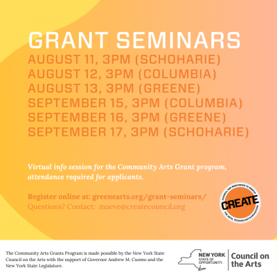 CREATE Grants Info Sessions